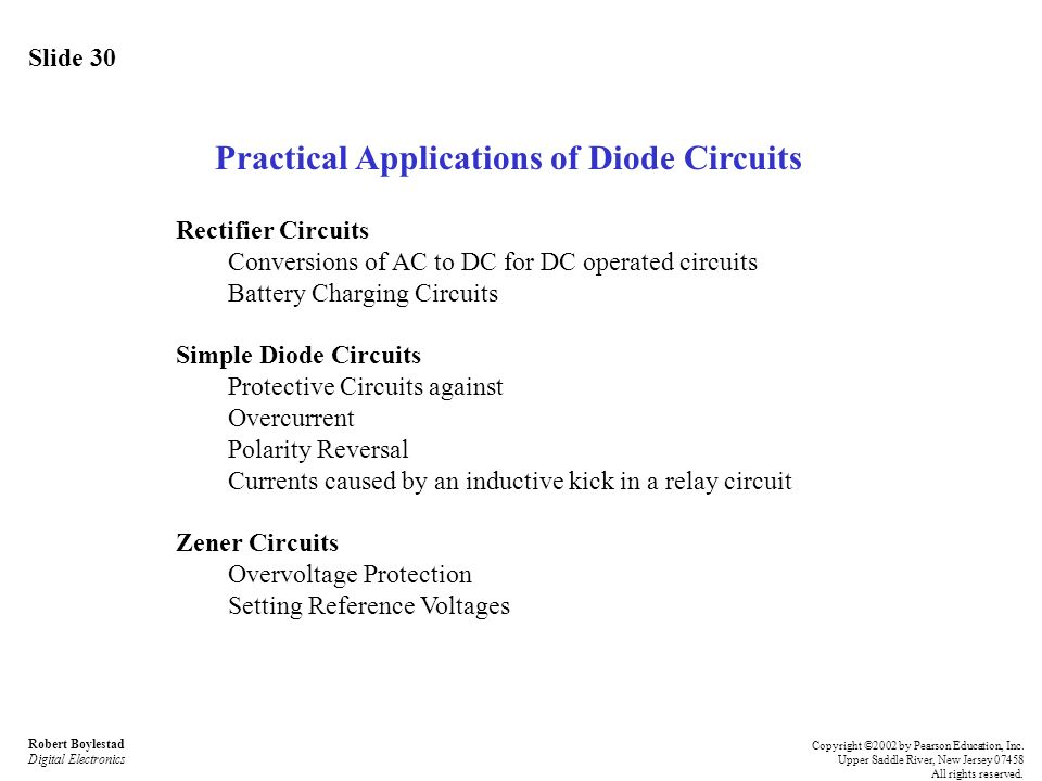 Practical Applications of Diode Circuits