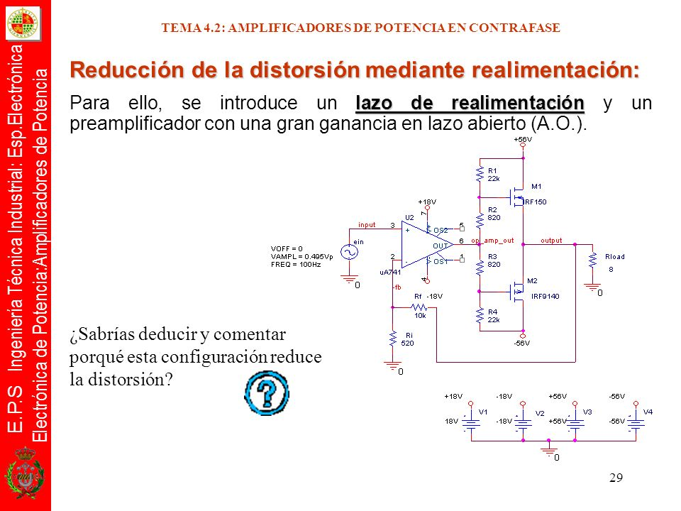 TEMA 4.2: AMPLIFICADORES DE POTENCIA EN CONTRAFASE