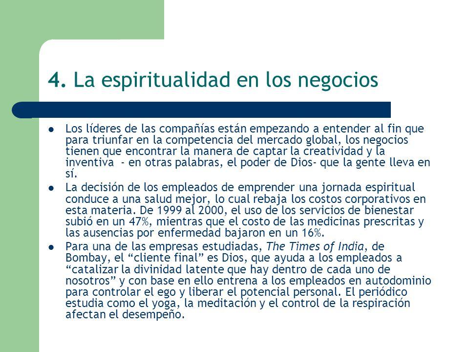 4. La espiritualidad en los negocios