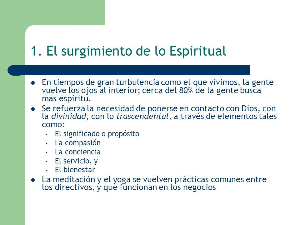 1. El surgimiento de lo Espiritual