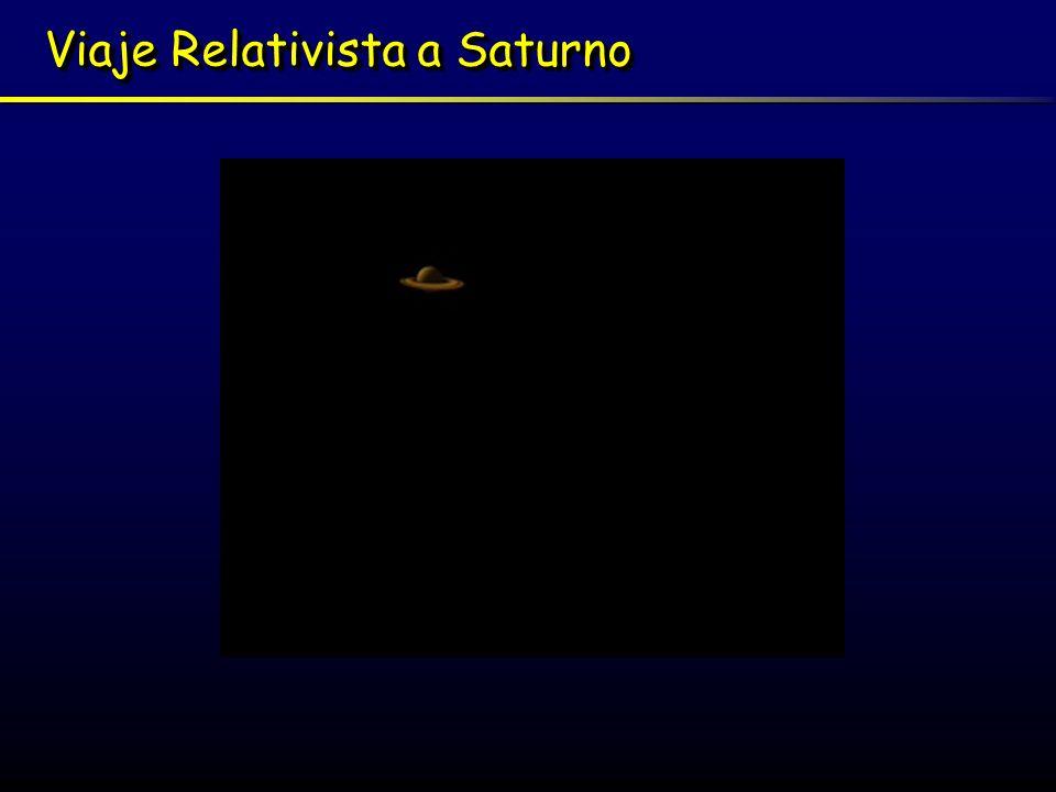 Viaje Relativista a Saturno