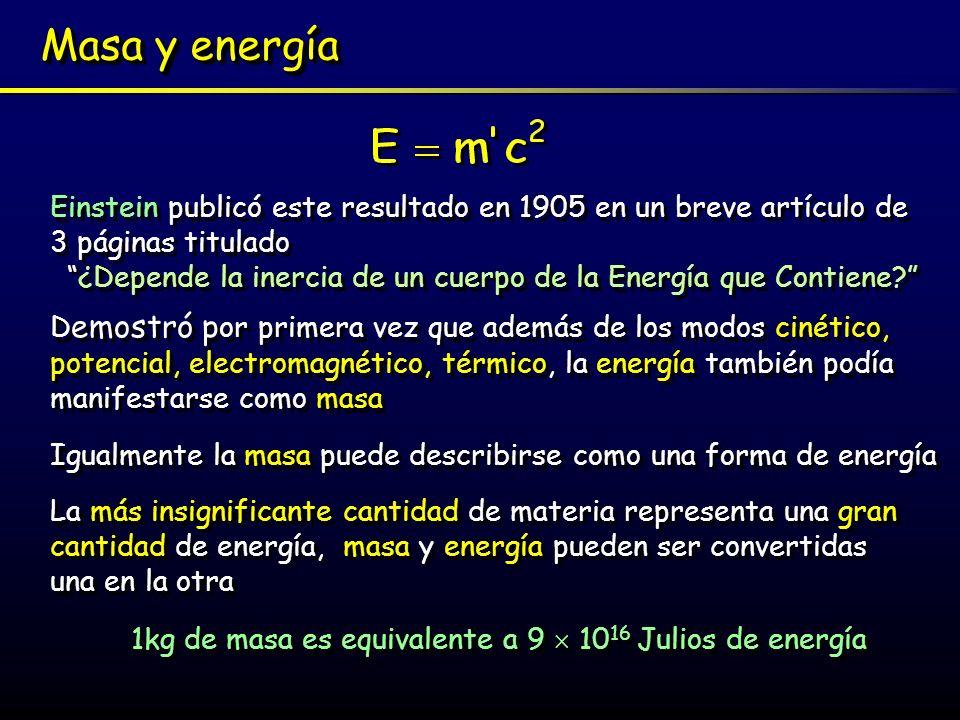 ¿Depende la inercia de un cuerpo de la Energía que Contiene