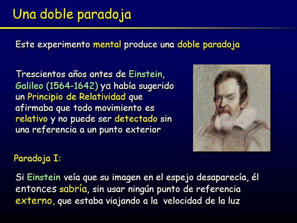 Una doble paradoja Este experimento mental produce una doble paradoja