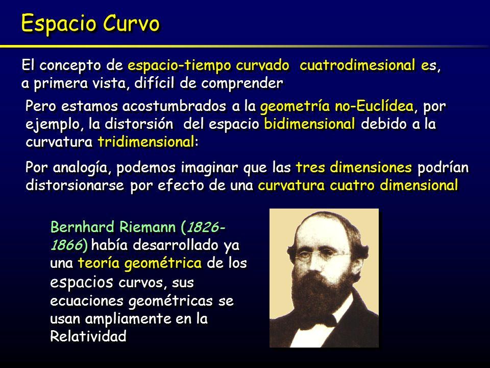 Espacio Curvo El concepto de espacio-tiempo curvado cuatrodimesional es, a primera vista, difícil de comprender.
