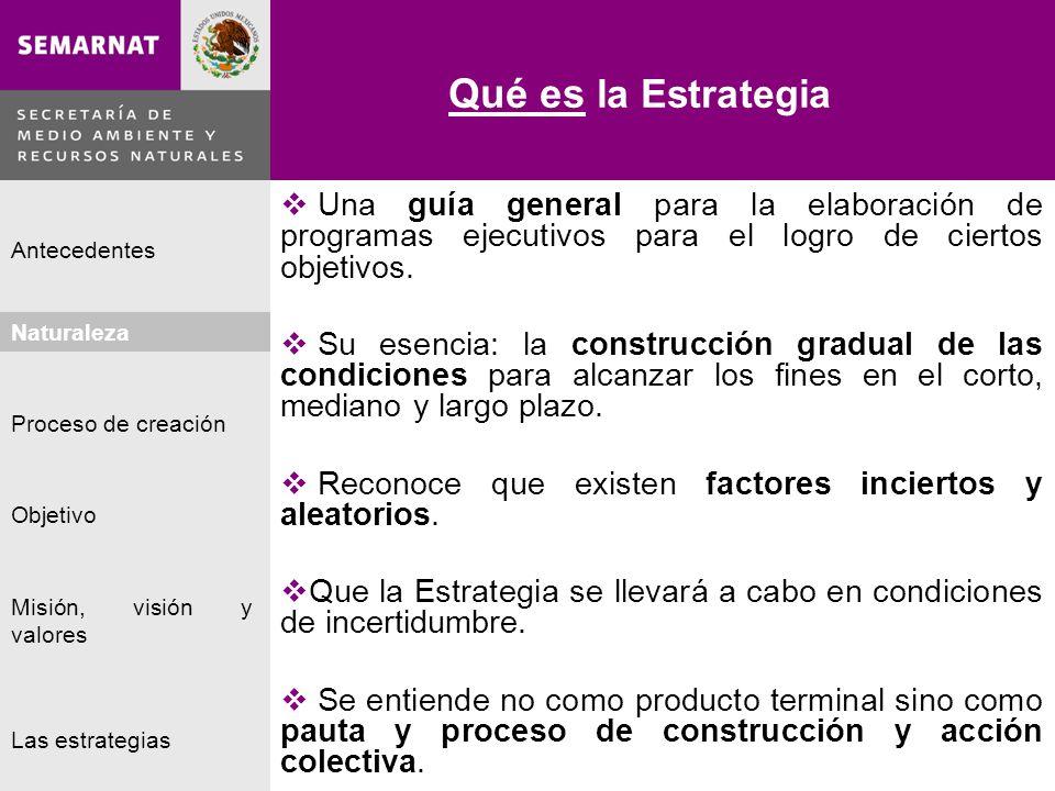 Qué es la Estrategia Una guía general para la elaboración de programas ejecutivos para el logro de ciertos objetivos.