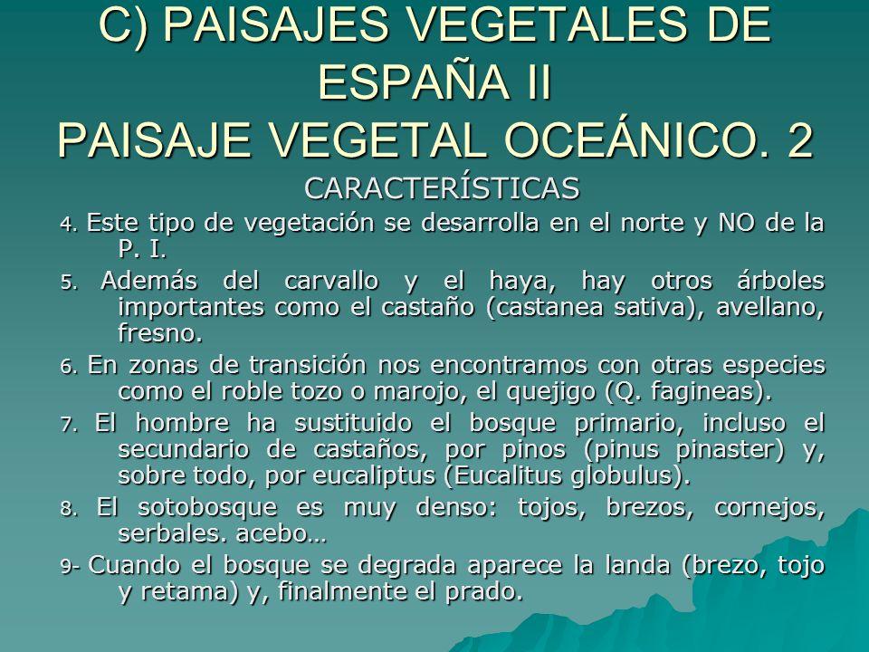 C) PAISAJES VEGETALES DE ESPAÑA II PAISAJE VEGETAL OCEÁNICO. 2