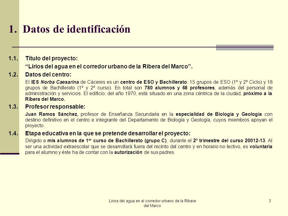 1. Datos de identificación