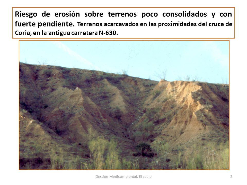 Gestión Medioambiental. El suelo