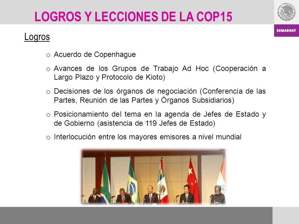 LOGROS Y LECCIONES DE LA COP15