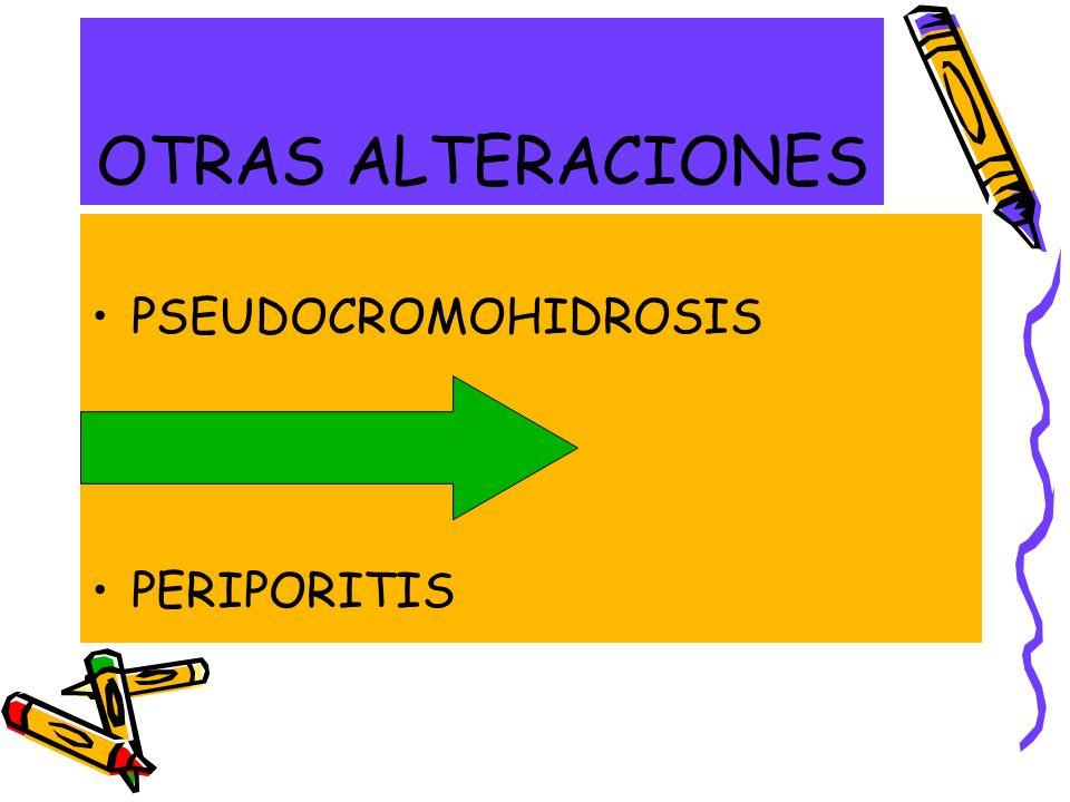OTRAS ALTERACIONES PSEUDOCROMOHIDROSIS BROMHIDROSIS PERIPORITIS