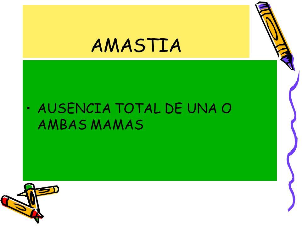 AMASTIA AUSENCIA TOTAL DE UNA O AMBAS MAMAS
