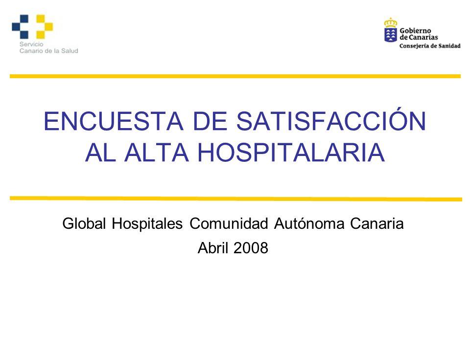 ENCUESTA DE SATISFACCIÓN AL ALTA HOSPITALARIA