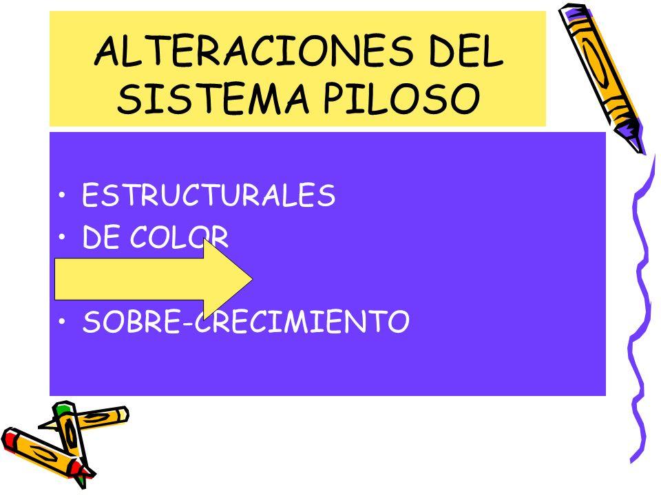 ALTERACIONES DEL SISTEMA PILOSO