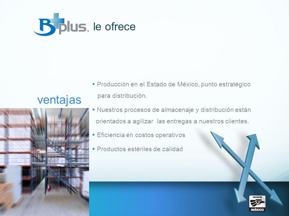 le ofrece Producción en el Estado de México, punto estratégico para distribución.
