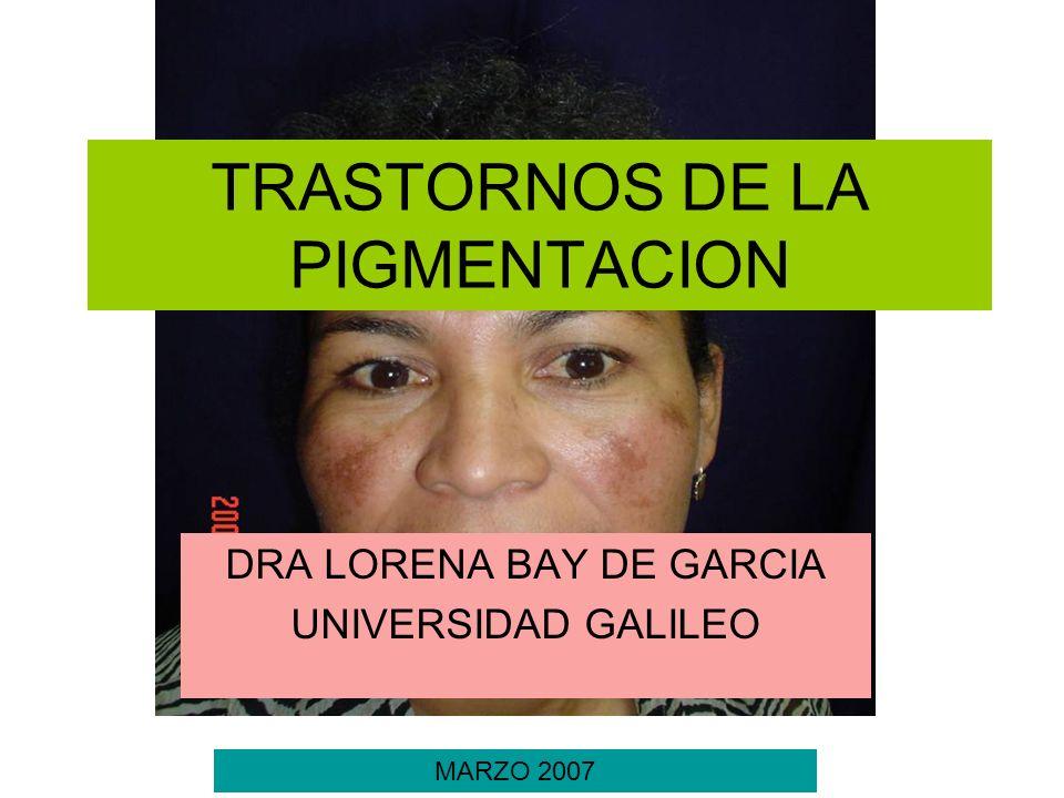 TRASTORNOS DE LA PIGMENTACION