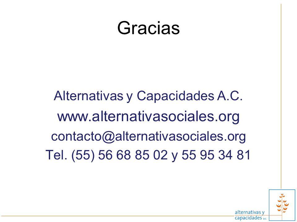 Alternativas y Capacidades A.C.