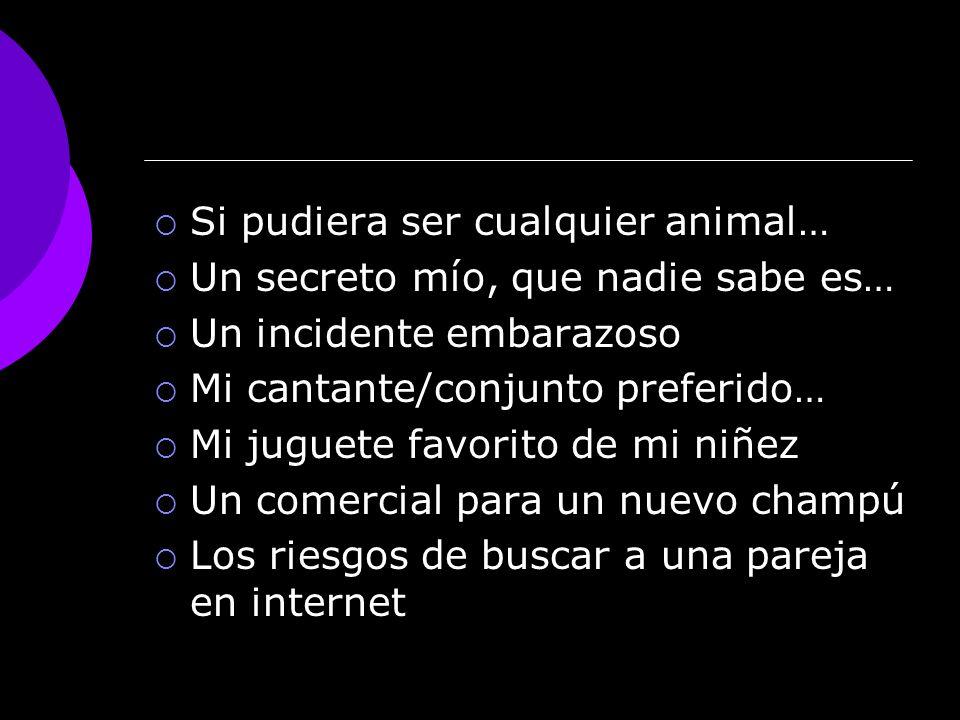 Si pudiera ser cualquier animal…