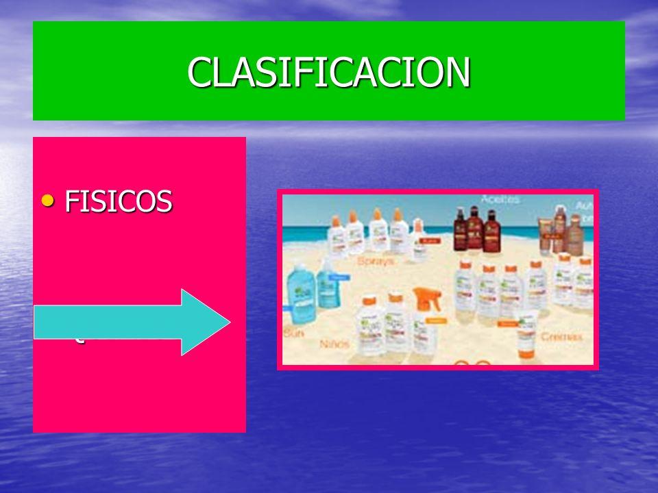 CLASIFICACION FISICOS QUIMICOS
