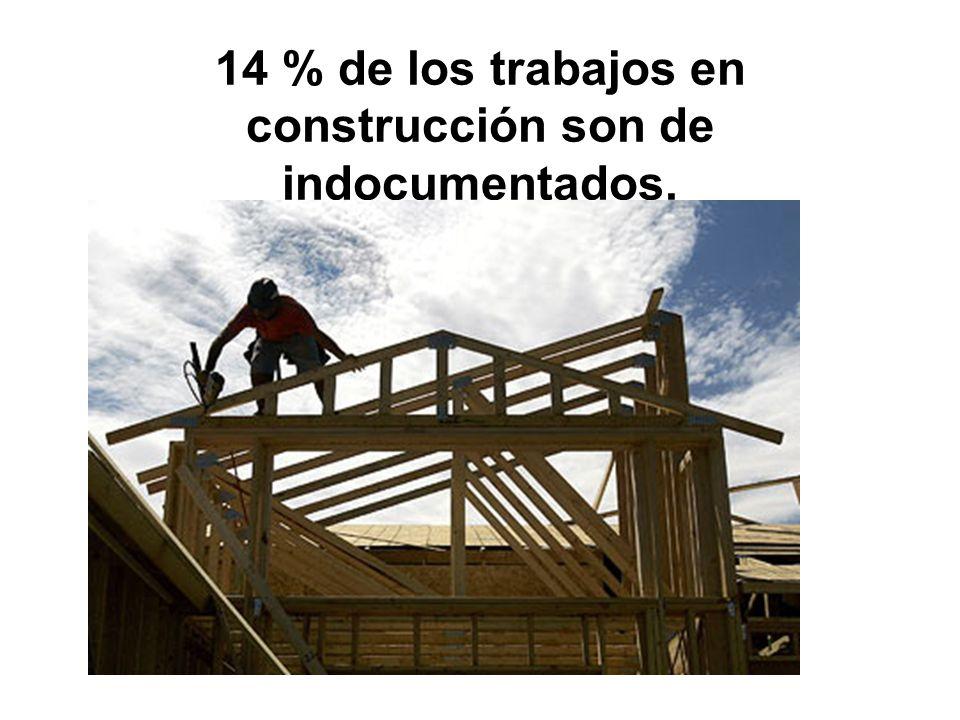 14 % de los trabajos en construcción son de indocumentados.