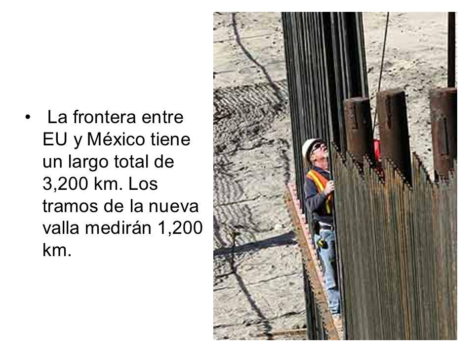 La frontera entre EU y México tiene un largo total de 3,200 km
