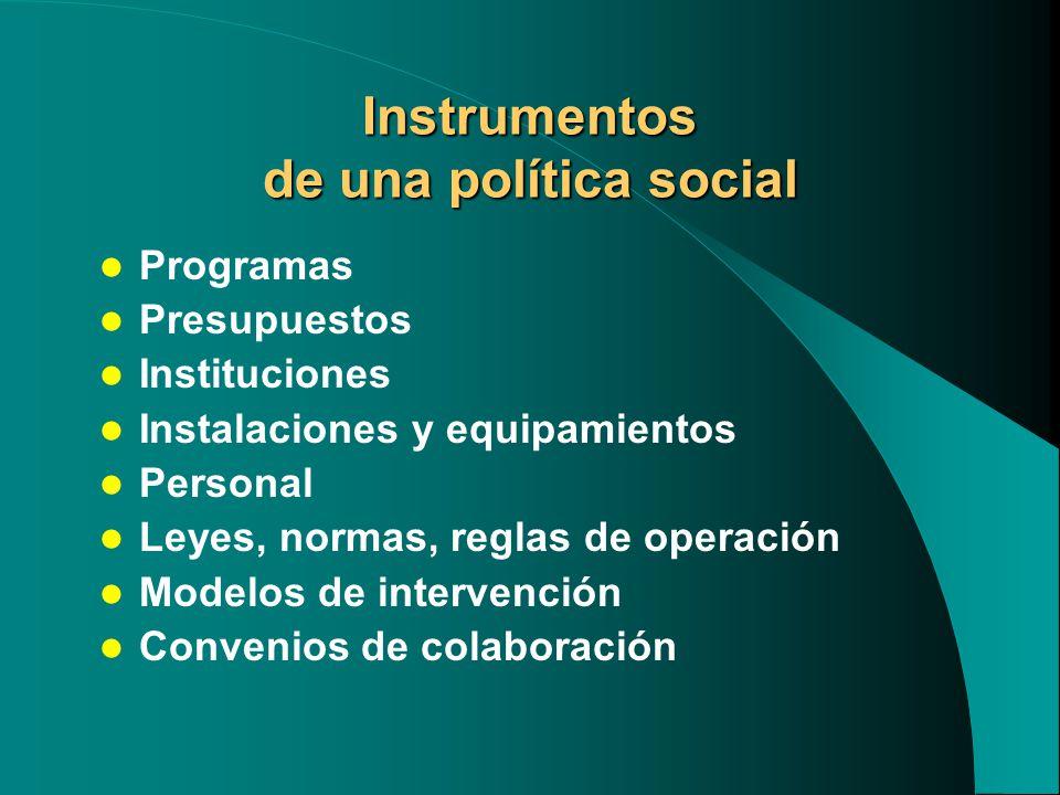 Instrumentos de una política social
