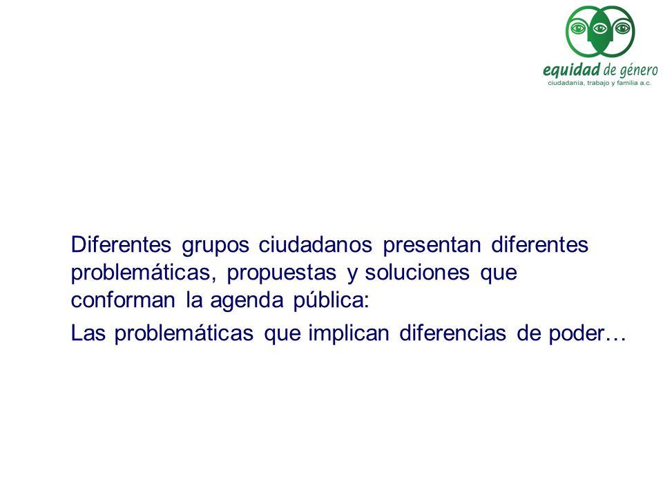 Diferentes grupos ciudadanos presentan diferentes problemáticas, propuestas y soluciones que conforman la agenda pública: