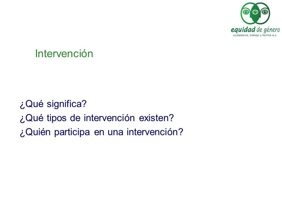 Intervención ¿Qué significa ¿Qué tipos de intervención existen