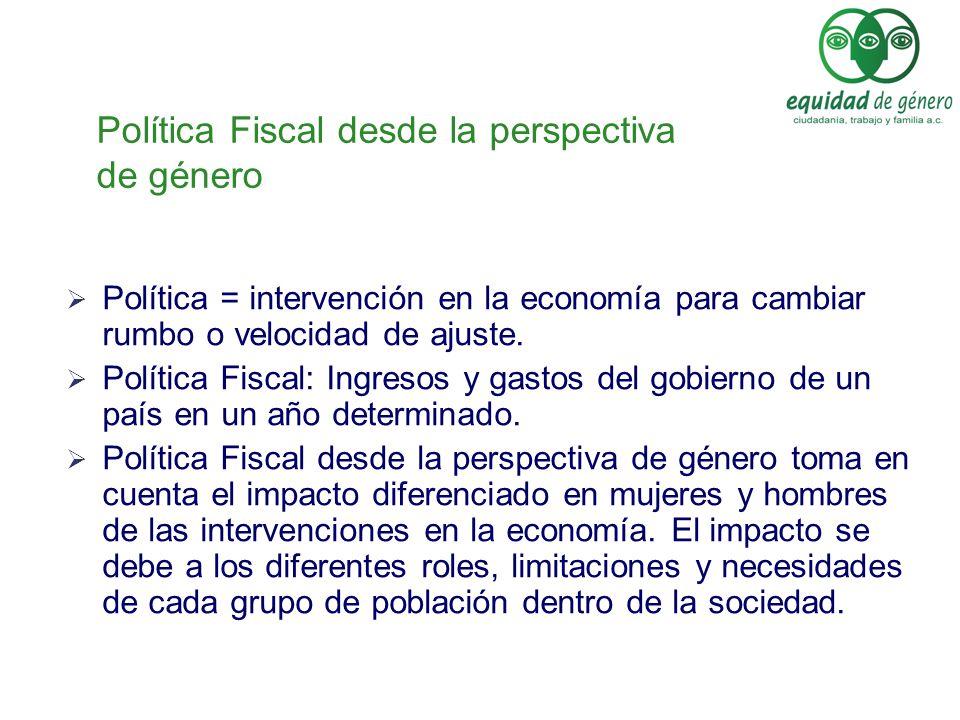 Política Fiscal desde la perspectiva de género
