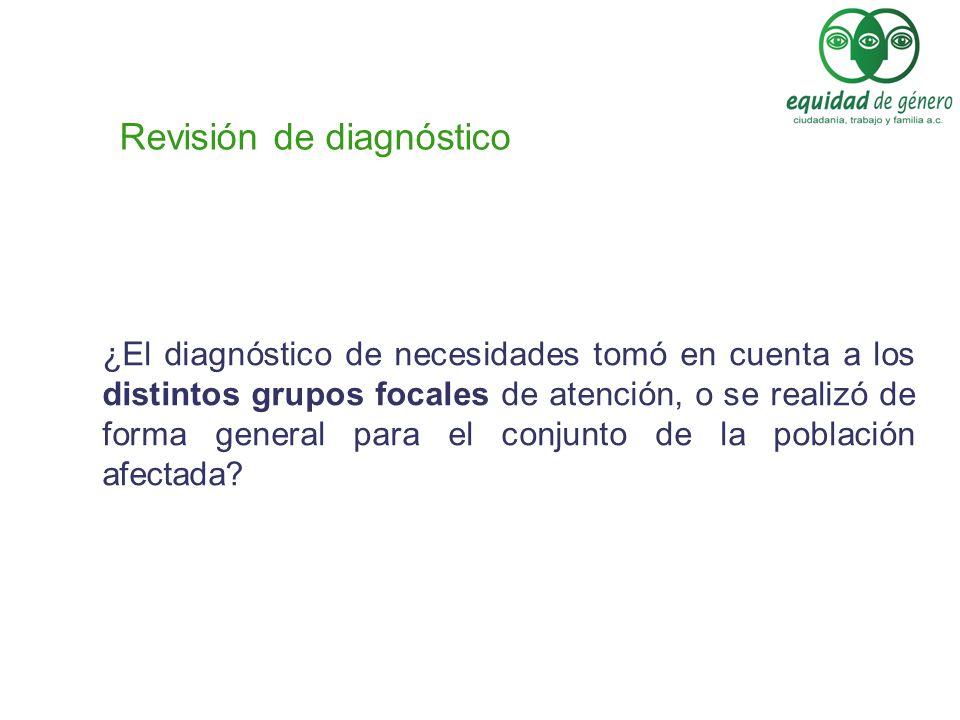 Revisión de diagnóstico