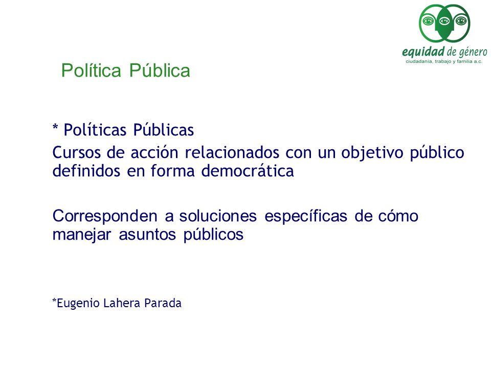 Política Pública * Políticas Públicas