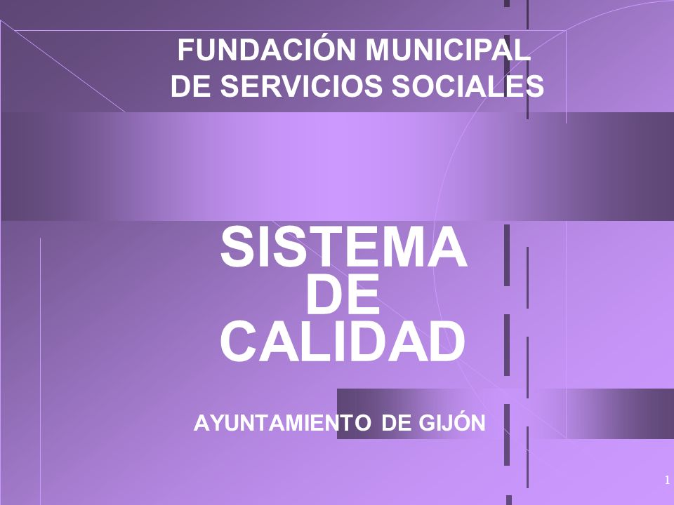 SISTEMA DE CALIDAD FUNDACIÓN MUNICIPAL DE SERVICIOS SOCIALES