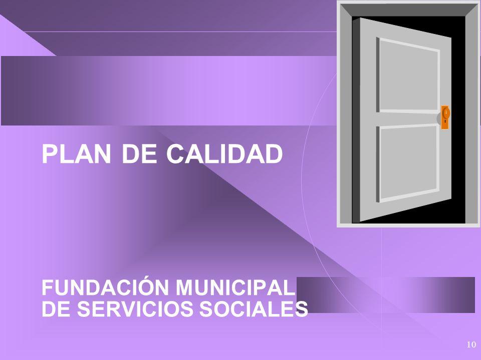 PLAN DE CALIDAD FUNDACIÓN MUNICIPAL DE SERVICIOS SOCIALES