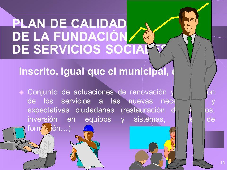 PLAN DE CALIDAD DE LA FUNDACIÓN MUNICIPAL DE SERVICIOS SOCIALES