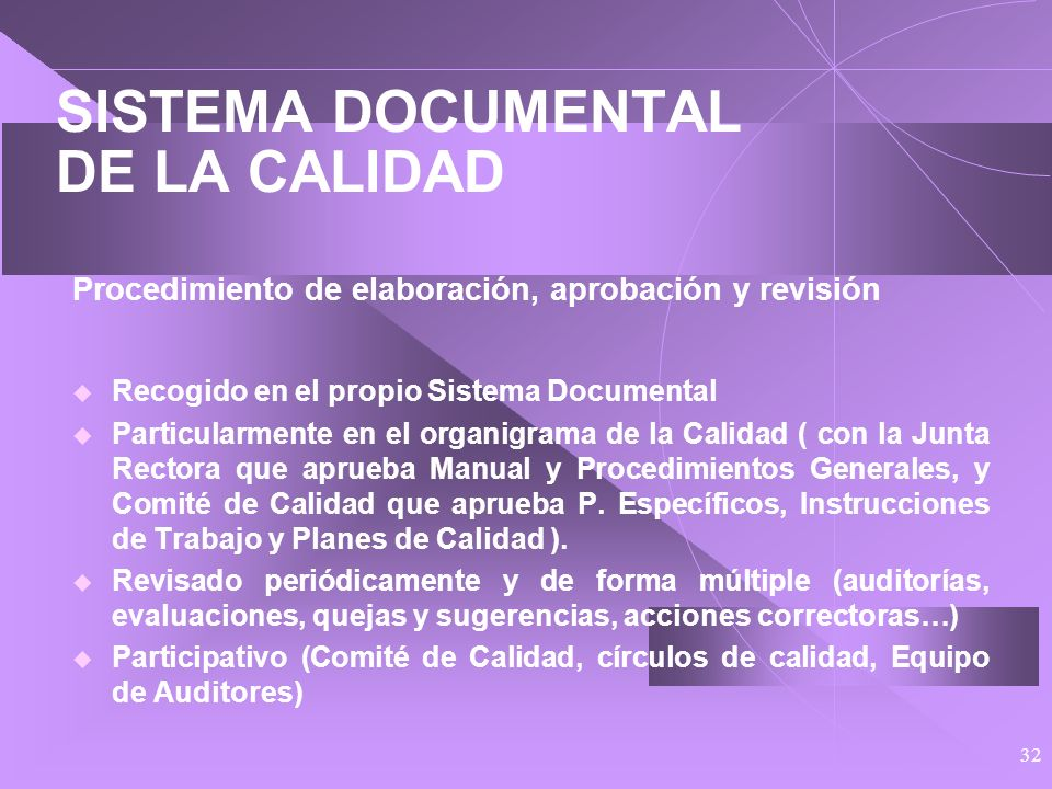 SISTEMA DOCUMENTAL DE LA CALIDAD