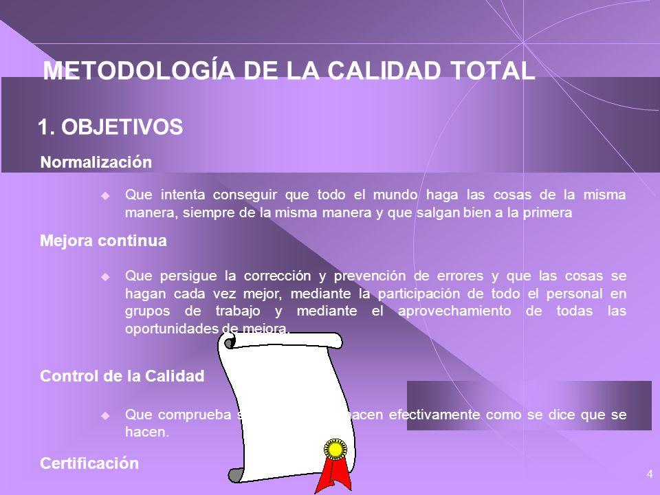 METODOLOGÍA DE LA CALIDAD TOTAL