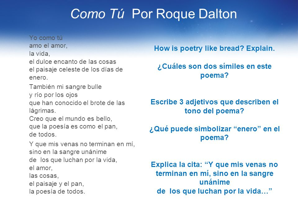 Como Tú Por Roque Dalton