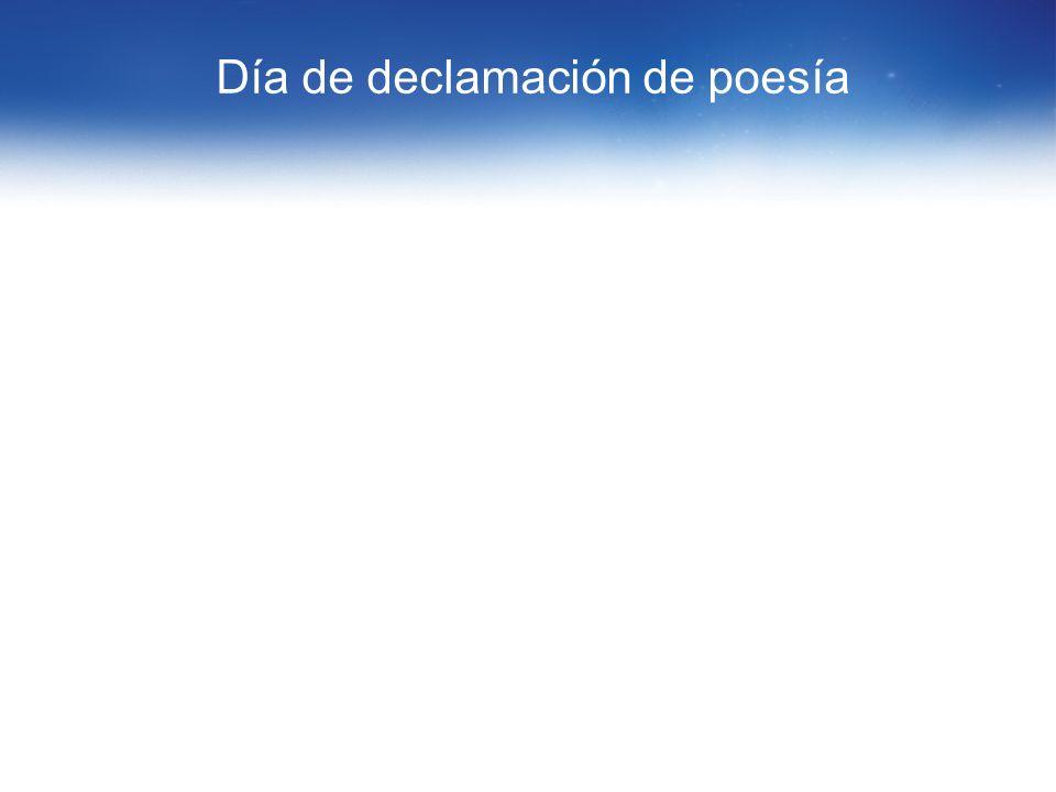 Día de declamación de poesía