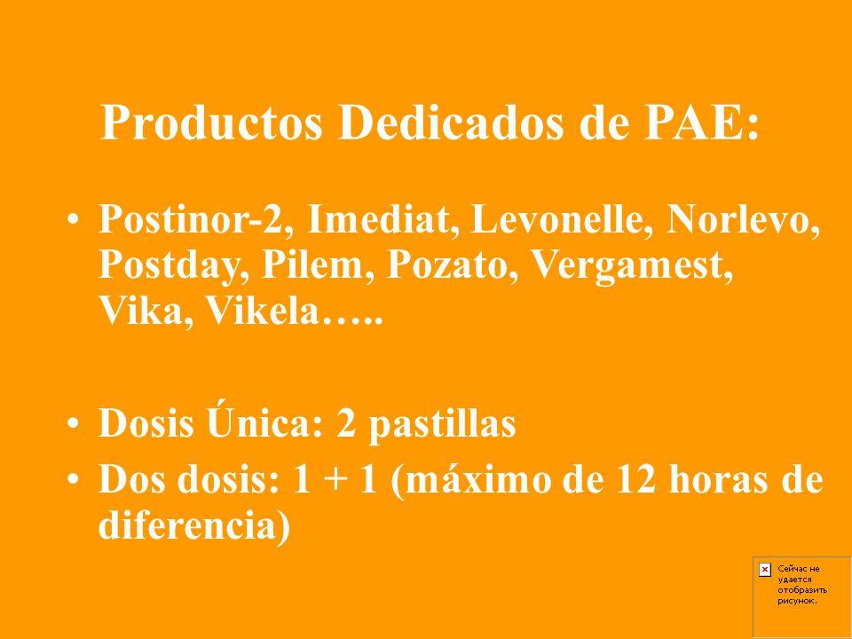 Productos Dedicados de PAE: