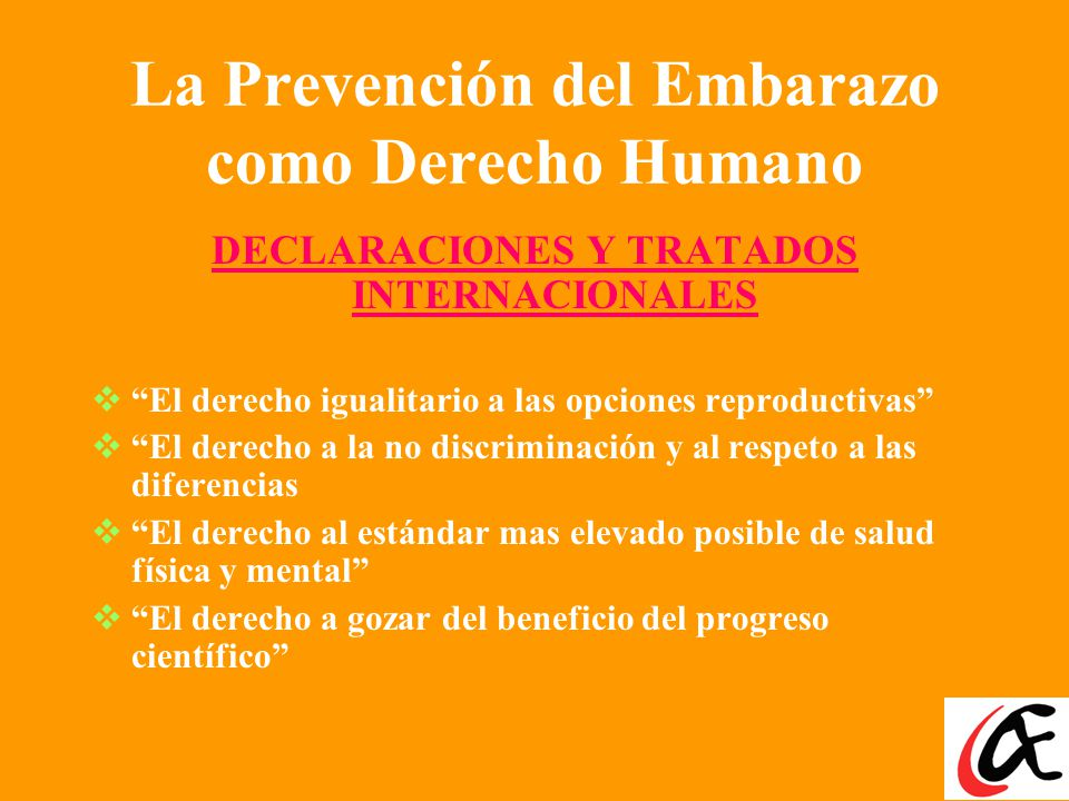 La Prevención del Embarazo como Derecho Humano