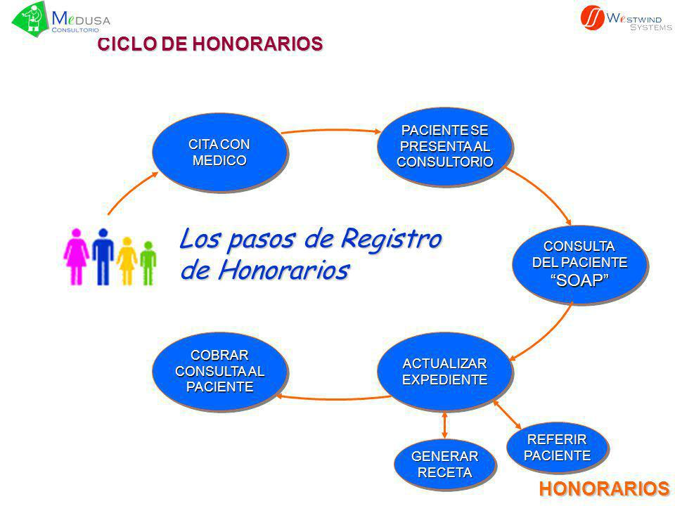 Los pasos de Registro de Honorarios