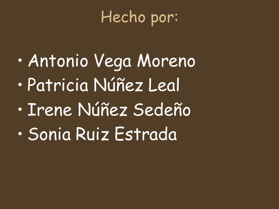 Antonio Vega Moreno Patricia Núñez Leal Irene Núñez Sedeño