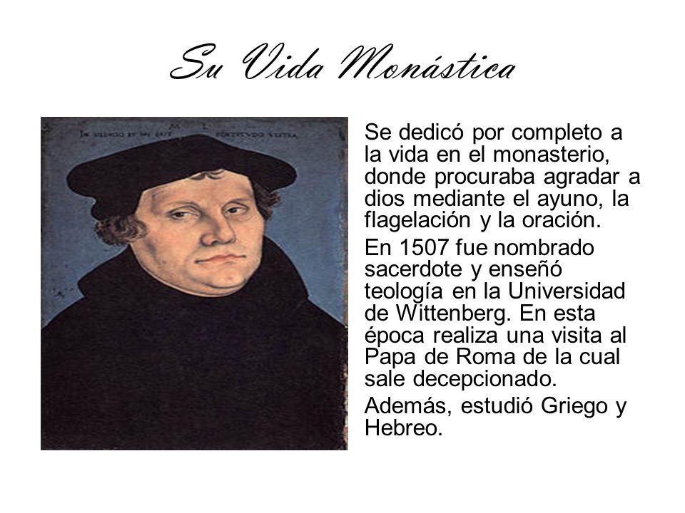 Su Vida Monástica Se dedicó por completo a la vida en el monasterio, donde procuraba agradar a dios mediante el ayuno, la flagelación y la oración.