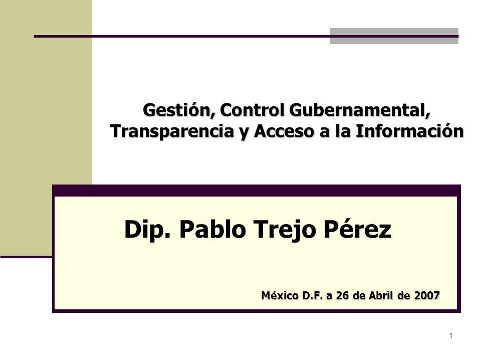 Gestión, Control Gubernamental, Transparencia y Acceso a la Información
