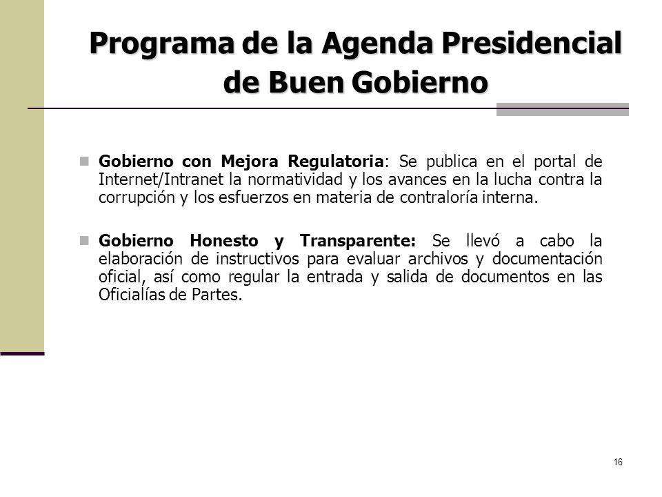 Programa de la Agenda Presidencial