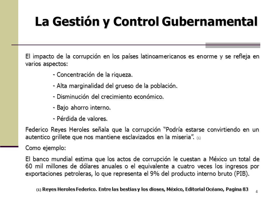 La Gestión y Control Gubernamental