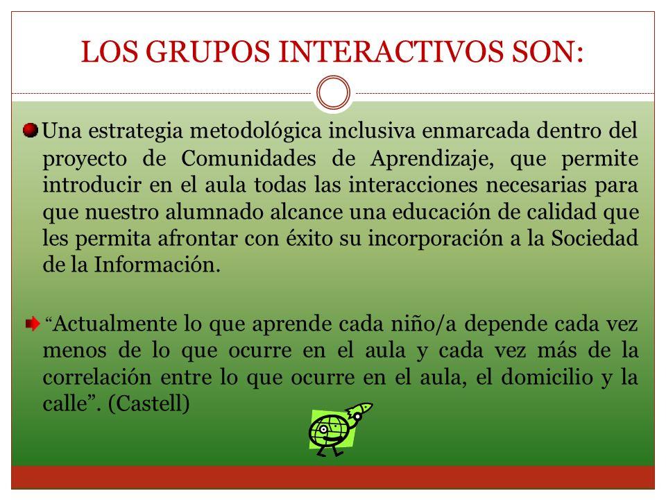 LOS GRUPOS INTERACTIVOS SON: