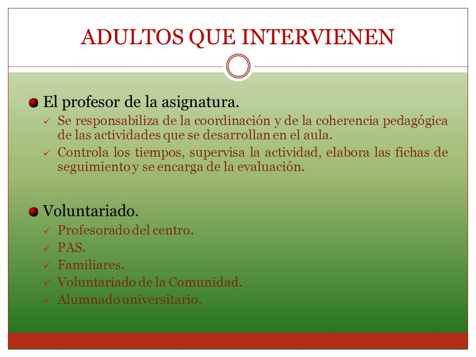 ADULTOS QUE INTERVIENEN