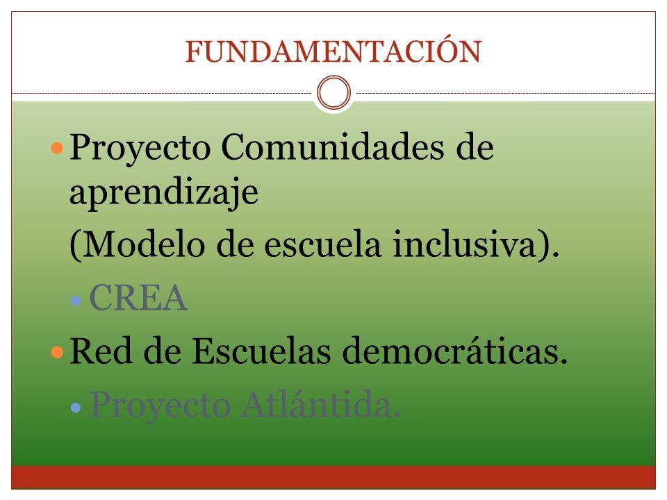 Proyecto Comunidades de aprendizaje (Modelo de escuela inclusiva).