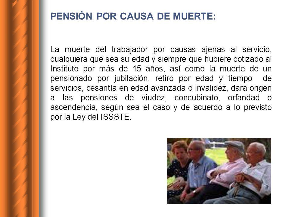 PENSIÓN POR CAUSA DE MUERTE:
