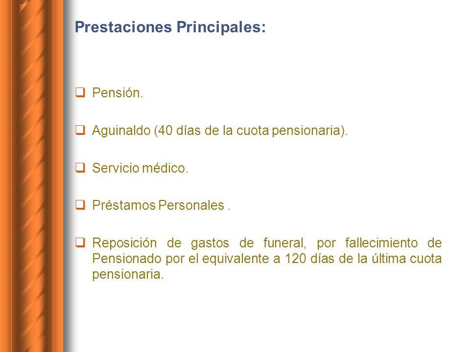 Prestaciones Principales:
